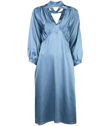 Fete Imperiale Kiss Silk Dress - Grey