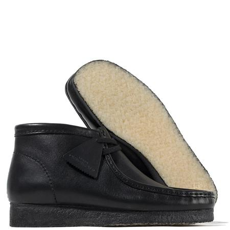 Clarks Leather Wallabee Boot - Black