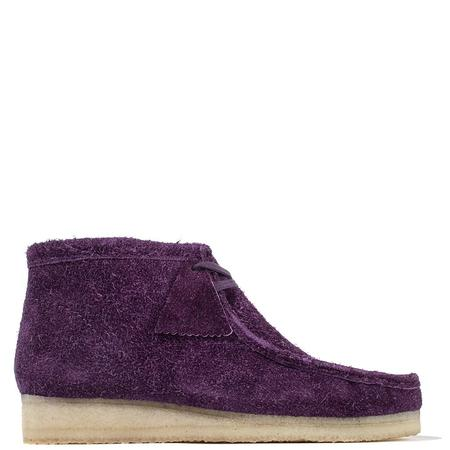 Clarks Hairy Suede Wallabee Boot - Deep Purple