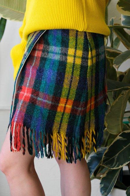 Carleen One Of A Kind Wool Wrap Skirt - Multi
