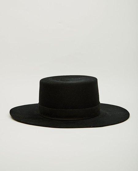 Janessa Leone GABRIELLE HAT - BLACK