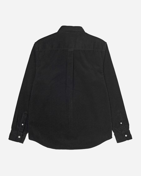 CARHARTT WIP Longsleeve Madison Cord Shirt - Black/White