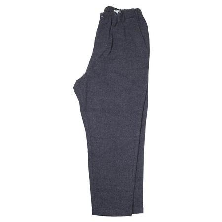 Sage de Cret Washed Wool Flannel Pants - Charcoal Grey