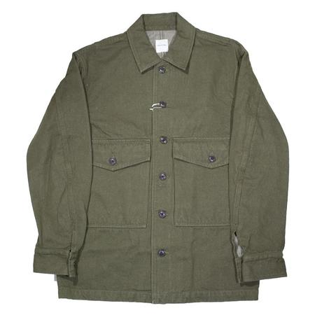 Sage de Cret Washed Linen and Cotton Twill Military Jacket - Olive