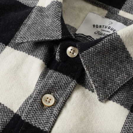 Portuguese Flannel The Búfalo Flannel Shirt - Black/White