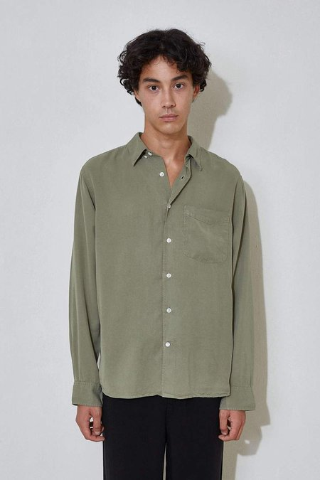 L'Homme Rouge Original Tencel Shirt - Green Wave