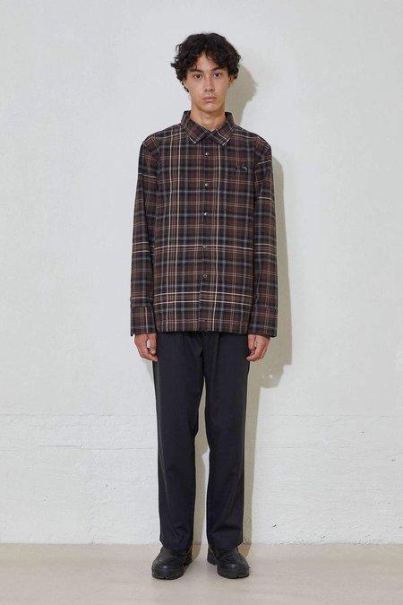 L'Homme Rouge Work Overshirt Check - Dark Brown