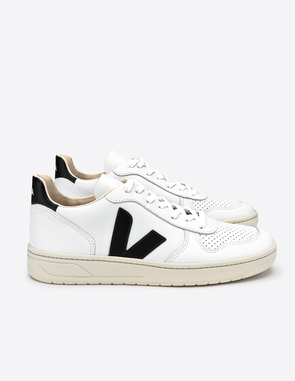 VEJA V-10 Leather sneaker - Extra White Black