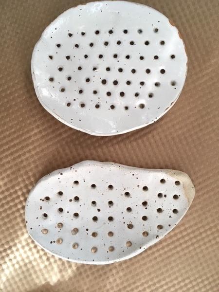 Eeli Pots Ceramics Soap Holder - White/Dots