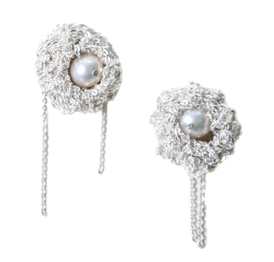 Arielle de Pinto Pearl Nuggie Earrings