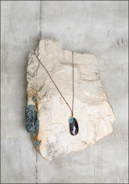 Margaret Solow Sapphire and Opal Drop Necklace - 18k Gold