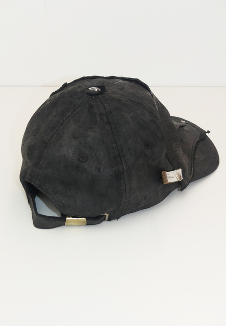 TY STEPHANO HAND PAINTED AND LEATHER EMBELLISHED CAP