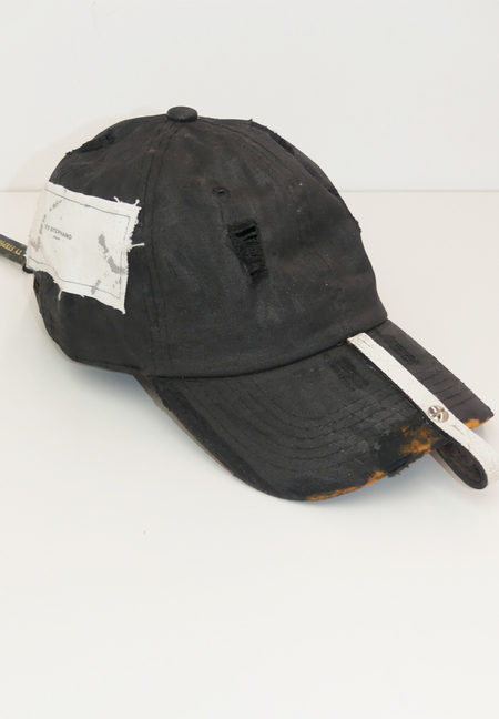 TY STEPHANO HAND PAINTED AND LEATHER STRAP CAP