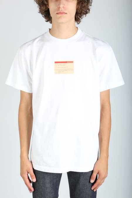 """machus SOUND MOVING AWAY... """"A"""" tee - white"""