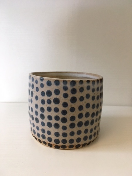 Eeli Pots Matcha Bowl - Blue Dot