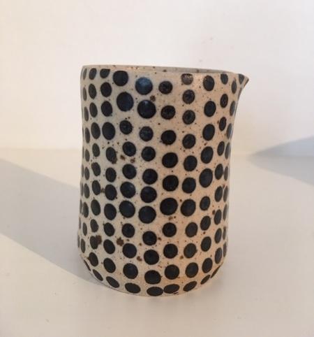 Eeli Pots Ceramics Milk Pitcher - Cream/Black Dots