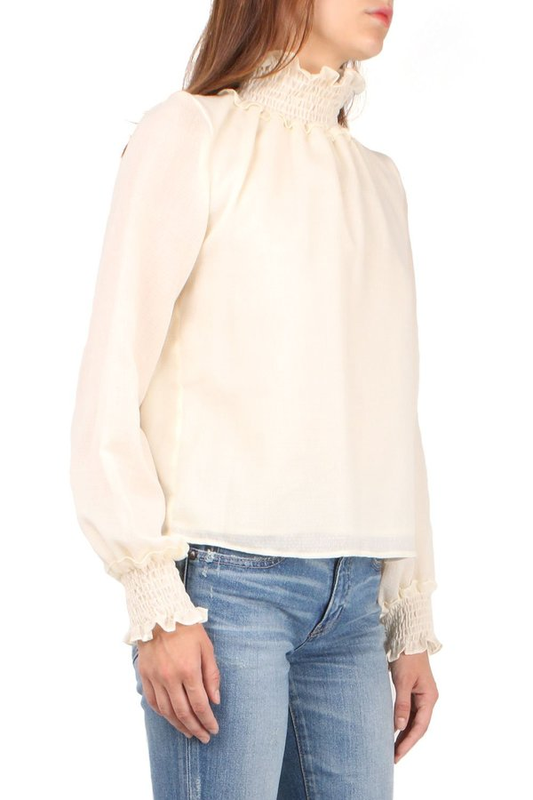 Warm Daisy Blouse - Ecru