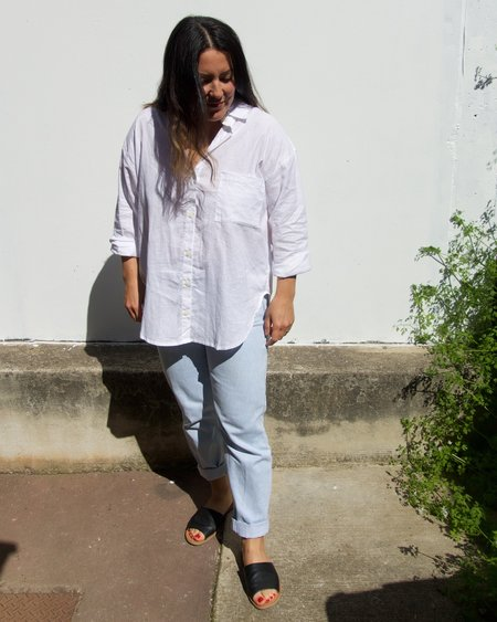 Arthur Oversize Hemp Shirt - Bright White