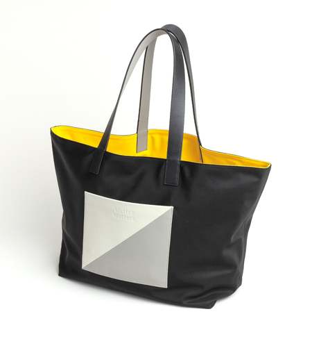 Matter Matters Gallery The square Reversible tote bag - Black/Yellow