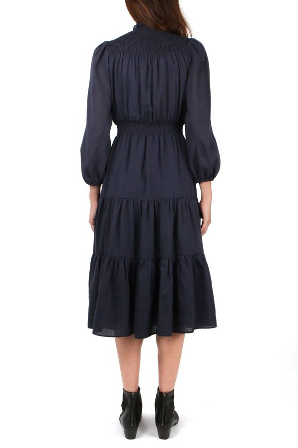 Warm Daisy Dress - Navy