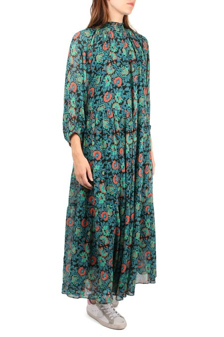 Apiece Apart Dubrovnik Tiered Dress - Floral Black