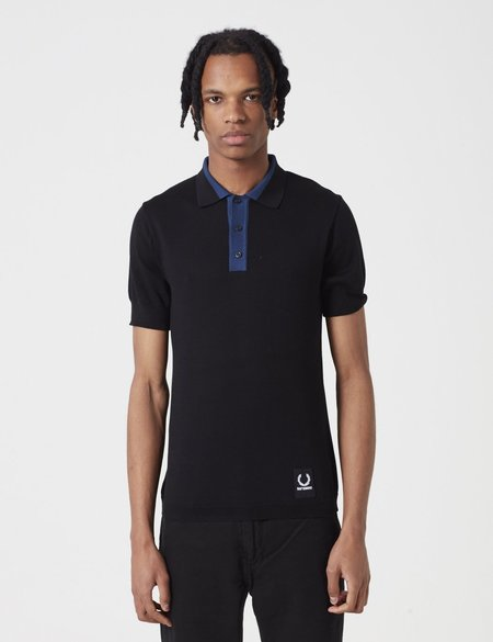 Fred Perry x Raf Simons Knitted Sport Polo Shirt - Black