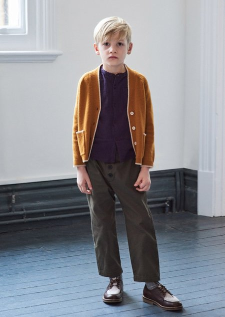 Kids Caramel Apollo Trouser - Balsam Green