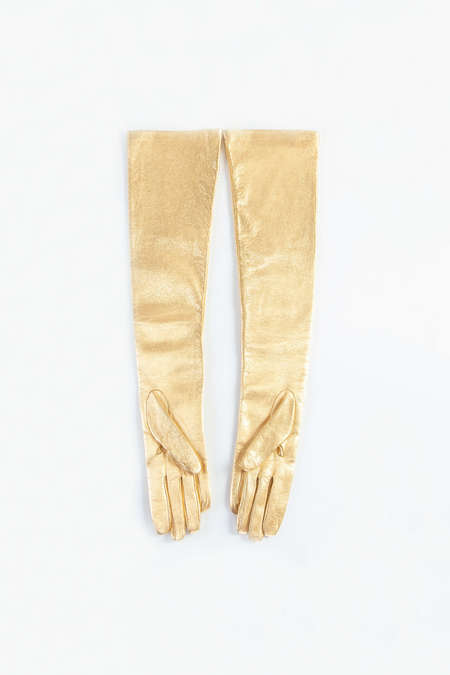 DRIES VAN NOTEN Gloves - Gold