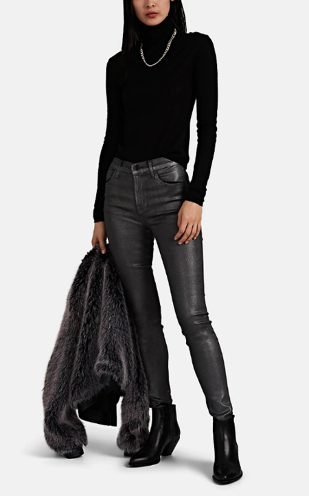 J Brand Maria High Rise Skinny Jean - Silver Lament