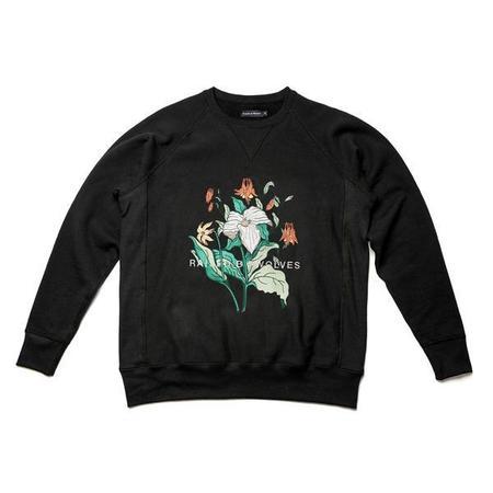 Raised by Wolves Trillium Crewneck Sweatshirt - Black