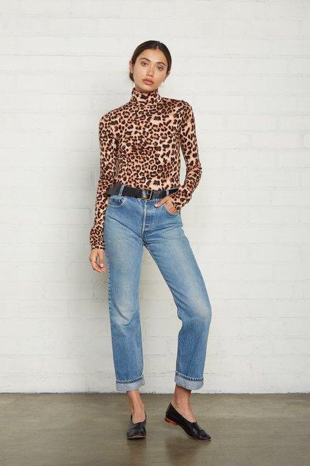 Rachel Pally Basic Turtleneck - Leopard