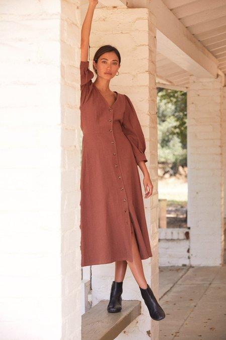 Rachel Pally Linen Canvas Agnes Dress - Masala
