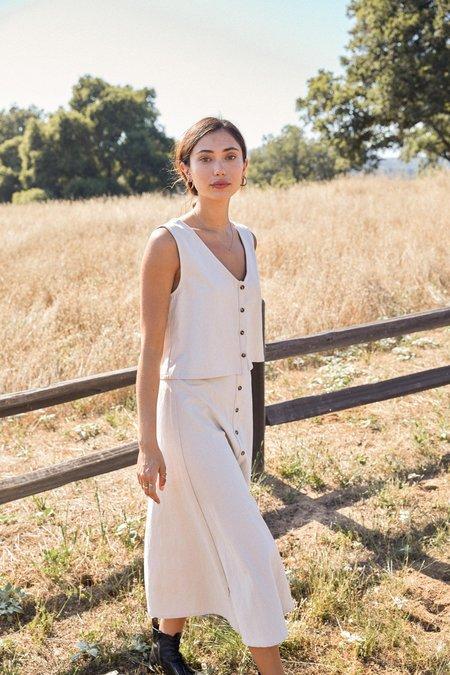 Rachel Pally Linen Canvas Ainsley Skirt - Ecru