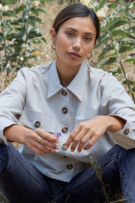 Rachel Pally Linen Canvas Francis Shirt Jacket - Ecru