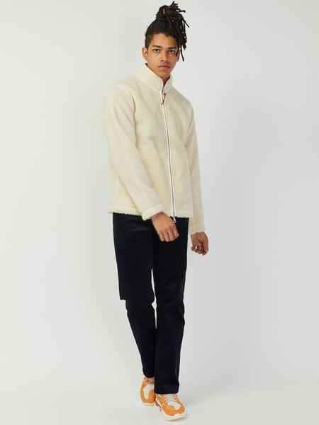 Albam Zipped Curly Fleece Jacket - Ecru