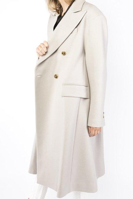 MM6 by Maison Margiela Wool Blend Coat - Beige