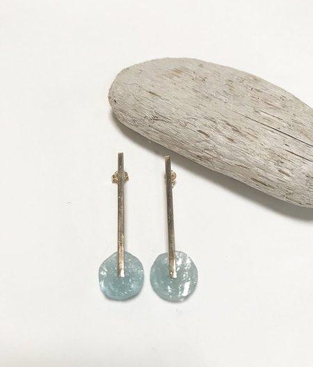 Aesa Swing Time Gemstone Earrings