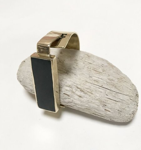 Aesa Little Reeve Cuff Bracelet - Black Onyx
