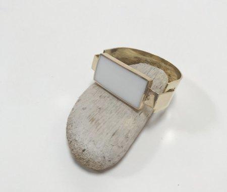 Aesa Reeve Cuff Bracelet - White Onyx