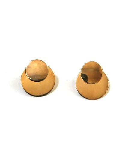 SAMMA Primer Double Circle Earrings - Gold