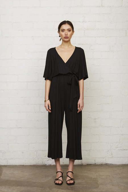 Rachel Pally Crop Meridith Jumpsuit - Black