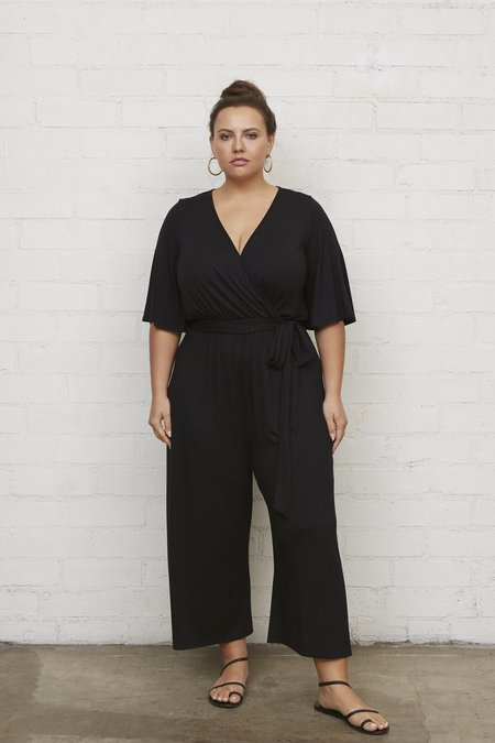 Rachel Pally White Label Crop Meridith Jumpsuit - Black