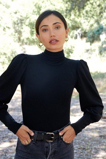 Rachel Pally Luxe Rib Eloise Bodysuit - Black