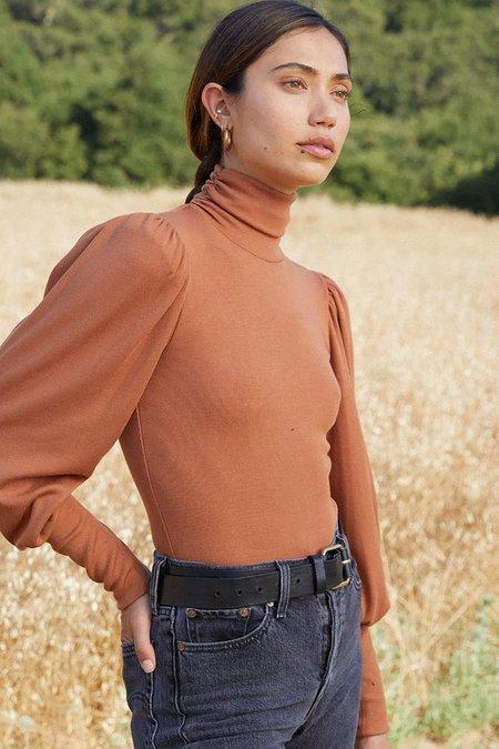 Rachel Pally Luxe Rib Eloise Bodysuit - Brass