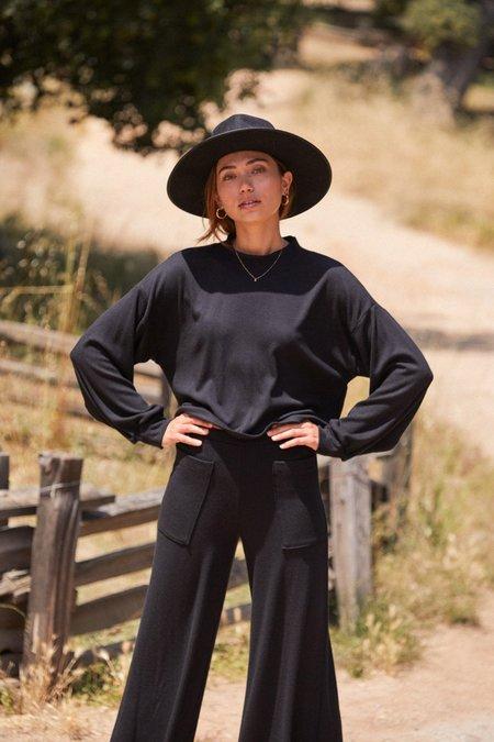 Rachel Pally Luxe Rib Sweatshirt - Black