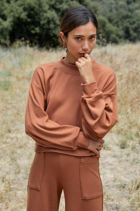 Rachel Pally Luxe Rib Sweatshirt - Brass