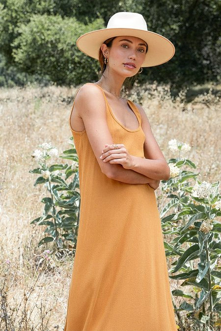Rachel Pally Pucker Rayon Fiona Dress - Honey