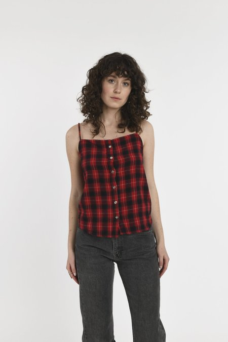CIE Denim Rick Tank Top - Red Check