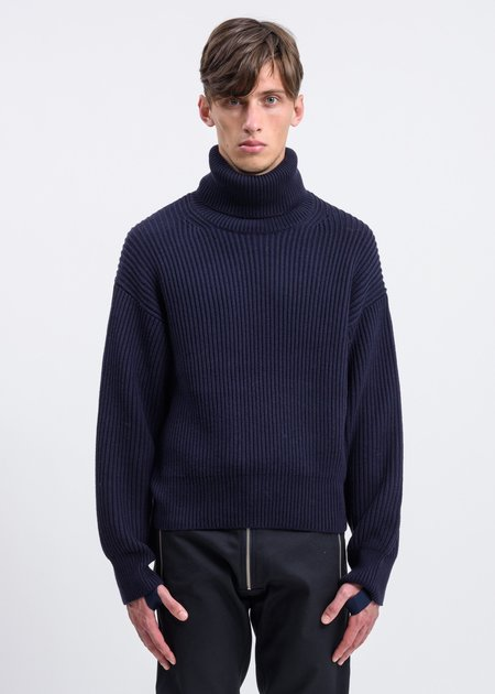 Helmut Lang Cotton Wool Turtle Neck Pull-Over - Ink