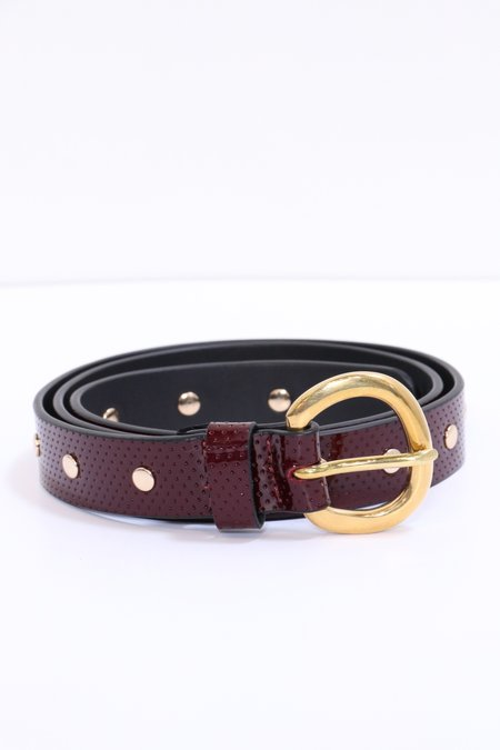 Rachel Comey Studded Mini Belt - Rosewood